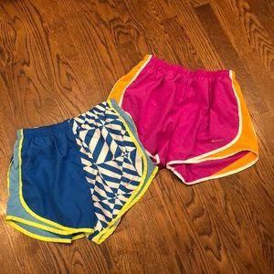Bundle of 2 Nike tempo running shorts sz s